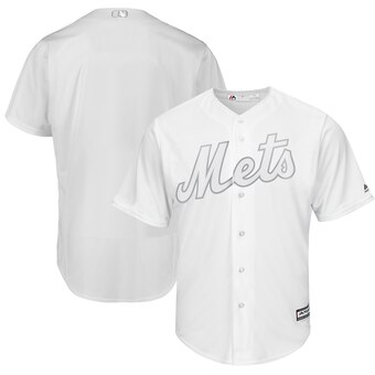 New York Mets Blank Majestic 2019 Players' Weekend Cool Base Team Jersey White