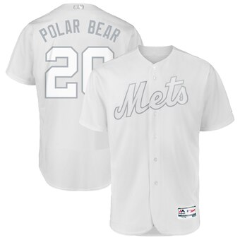 New York Mets #20 Pete Alonso Polar Bear Majestic 2019 Players' Weekend Flex Base Authentic Player Jersey White