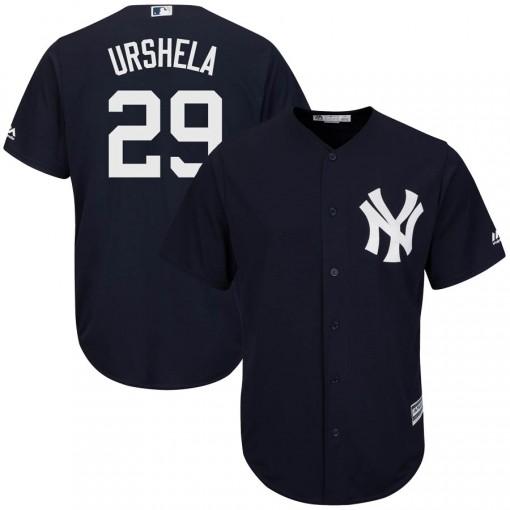 Yankees #29 Gio Urshela Navy Blue New Cool Base Stitched MLB Jersey