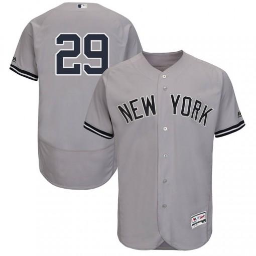 Yankees #29 Gio Urshela Grey Flexbase Authentic Collection Stitched MLB Jersey