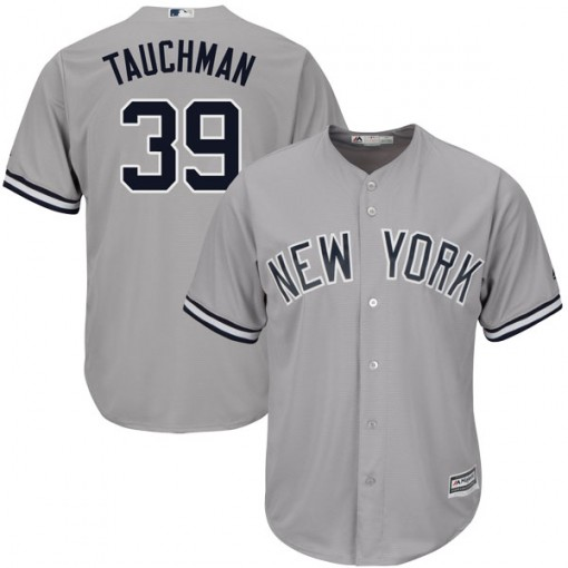 Yankees #39 Mike Tauchman Grey New Cool Base Stitched MLB Jersey