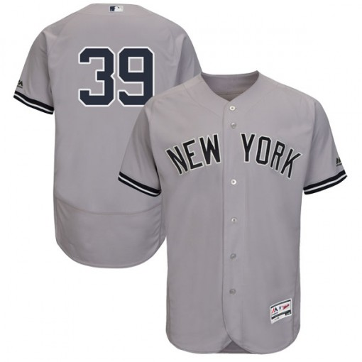Yankees #39 Mike Tauchman Grey Flexbase Authentic Collection Stitched MLB Jersey