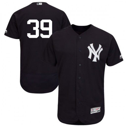 Yankees #39 Mike Tauchman Navy Blue Flexbase Authentic Collection Stitched MLB Jersey