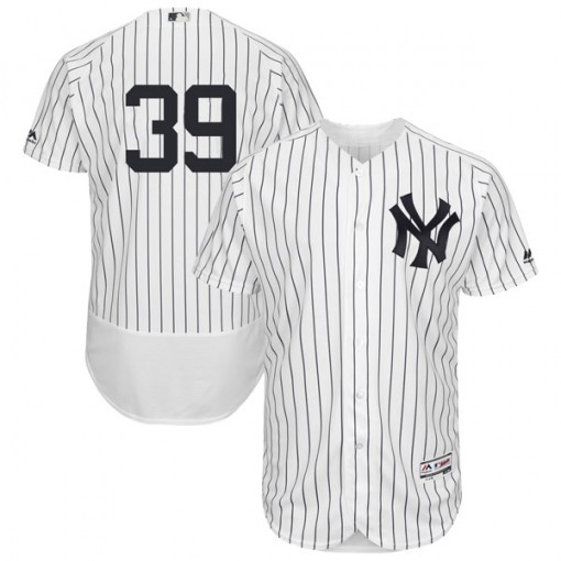 Yankees #39 Mike Tauchman White Strip Flexbase Authentic Collection Stitched MLB Jersey
