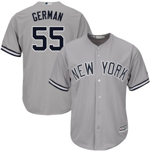Yankees #55 Domingo German Grey New Cool Base Stitched MLB Jersey