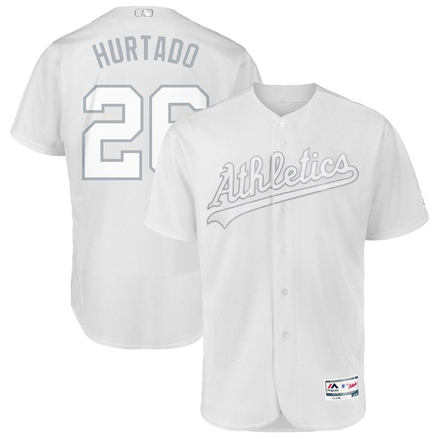 Oakland Athletics #26 Matt Chapman Hurtado Majestic 2019 Players' Weekend Flex Base Authentic Player Jersey White