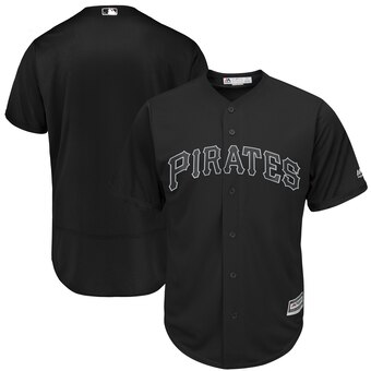 Pittsburgh Pirates Blank Majestic 2019 Players' Weekend Cool Base Team Jersey Black