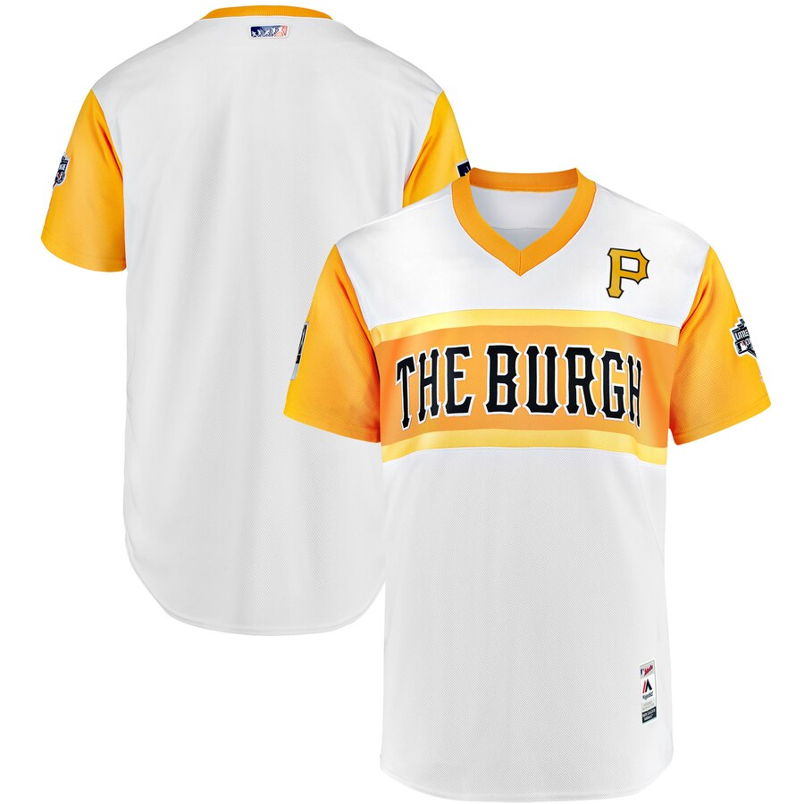 Pittsburgh Pirates Majestic 2019 MLB Little League Classic Authentic Team Jersey White