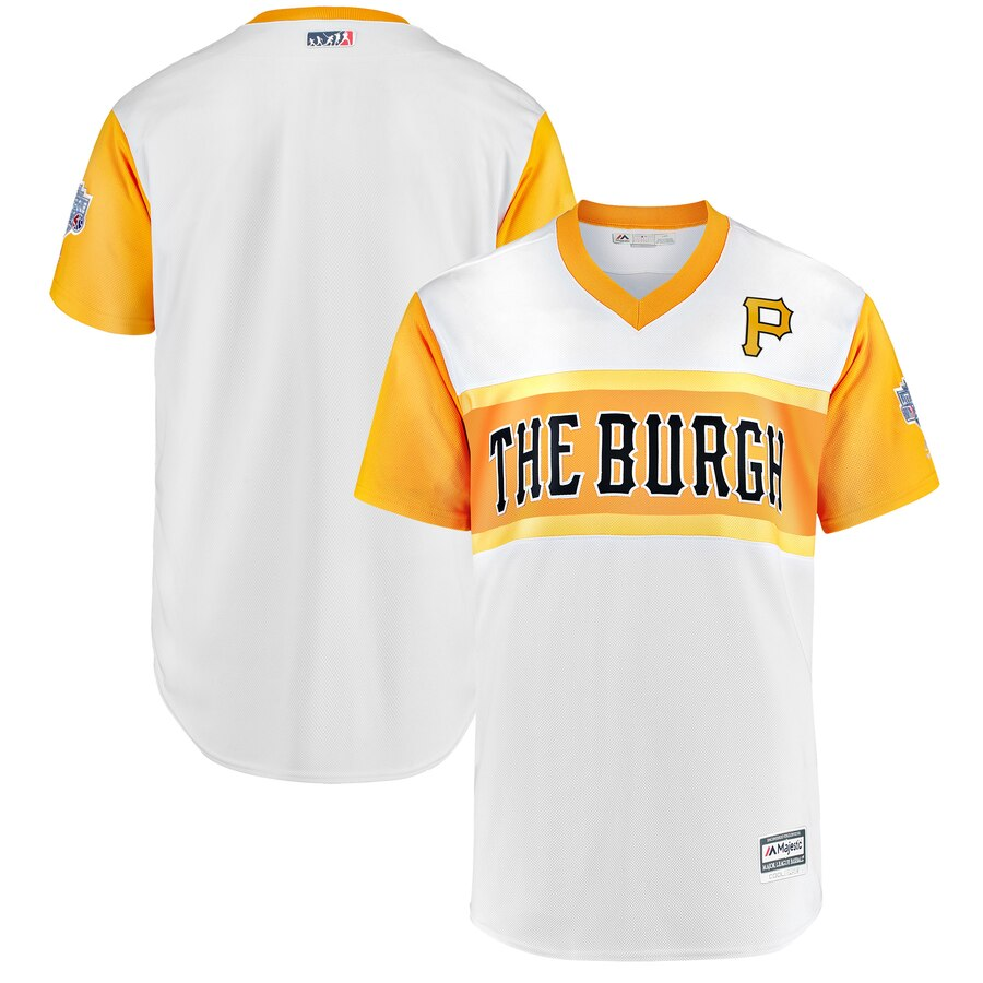 Pittsburgh Pirates Majestic 2019 MLB Little League Classic Replica Team Jersey White