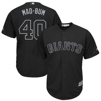 San Francisco Giants #40 Madison Bumgarner Mad-Bum Majestic 2019 Players' Weekend Cool Base Player Jersey Black