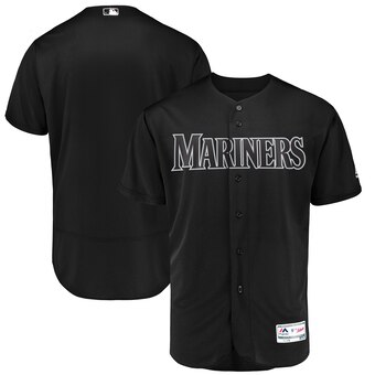Seattle Mariners Blank Majestic 2019 Players' Weekend Flex Base Authentic Team Jersey Black