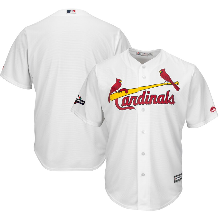St. Louis Cardinals Majestic 2019 Postseason Official Cool Base Player Jersey White