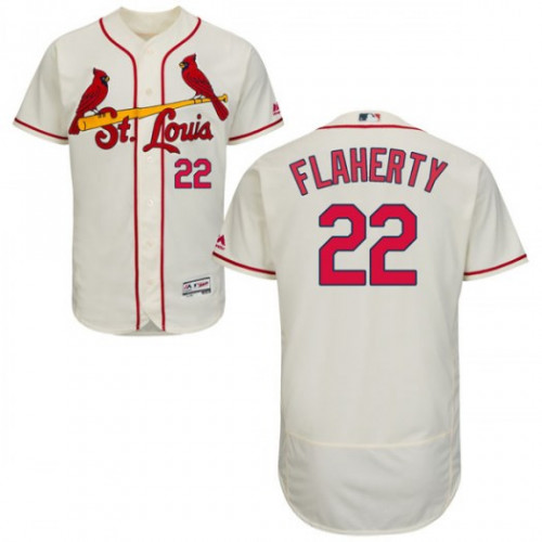 Cardinals #22 Jack Flaherty Cream Flexbase Authentic Collection Stitched MLB Jersey