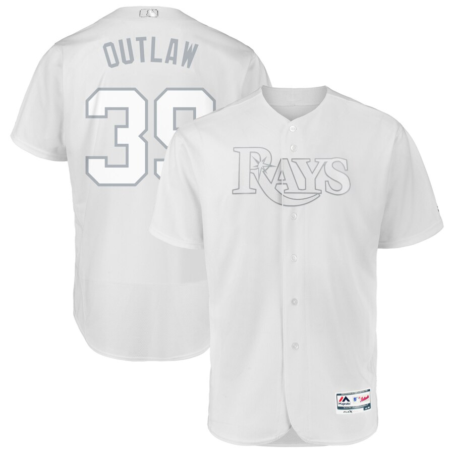 Tampa Bay Rays #39 Kevin Kiermaier Outlaw Majestic 2019 Players' Weekend Flex Base Authentic Player Jersey White
