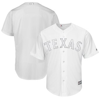 Texas Rangers Blank Majestic 2019 Players' Weekend Cool Base Team Jersey White