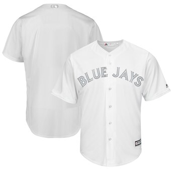 Toronto Blue Jays Blank Majestic 2019 Players' Weekend Cool Base Team Jersey White