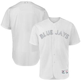Toronto Blue Jays Blank Majestic 2019 Players' Weekend Flex Base Authentic Team Jersey White