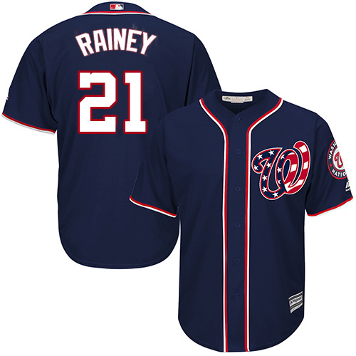 Nationals #21 Tanner Rainey Navy Blue New Cool Base Stitched MLB Jersey