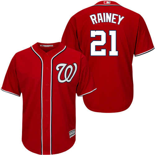 Nationals #21 Tanner Rainey Red New Cool Base Stitched MLB Jersey