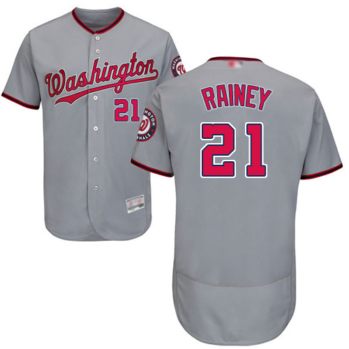 Nationals #21 Tanner Rainey Grey Flexbase Authentic Collection Stitched MLB Jersey