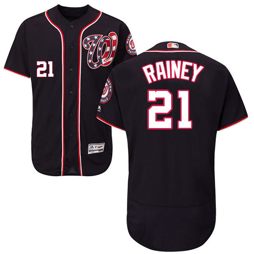 Nationals #21 Tanner Rainey Navy Blue Flexbase Authentic Collection Stitched MLB Jersey