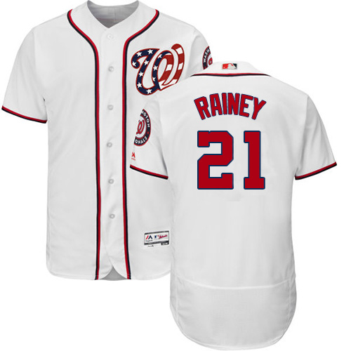 Nationals #21 Tanner Rainey White Flexbase Authentic Collection Stitched MLB Jersey