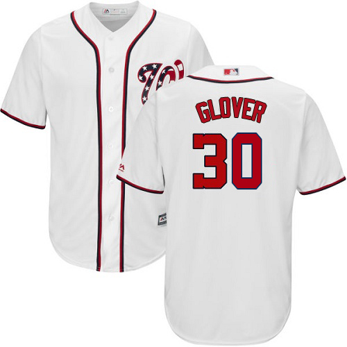 Nationals #30 Koda Glover White New Cool Base Stitched MLB Jersey