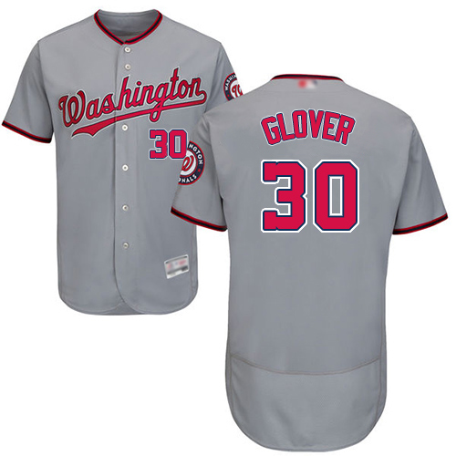 Nationals #30 Koda Glover Grey Flexbase Authentic Collection Stitched MLB Jersey