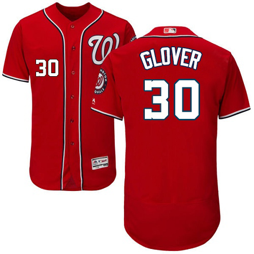 Nationals #30 Koda Glover Red Flexbase Authentic Collection Stitched MLB Jersey
