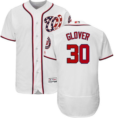 Nationals #30 Koda Glover White Flexbase Authentic Collection Stitched MLB Jersey