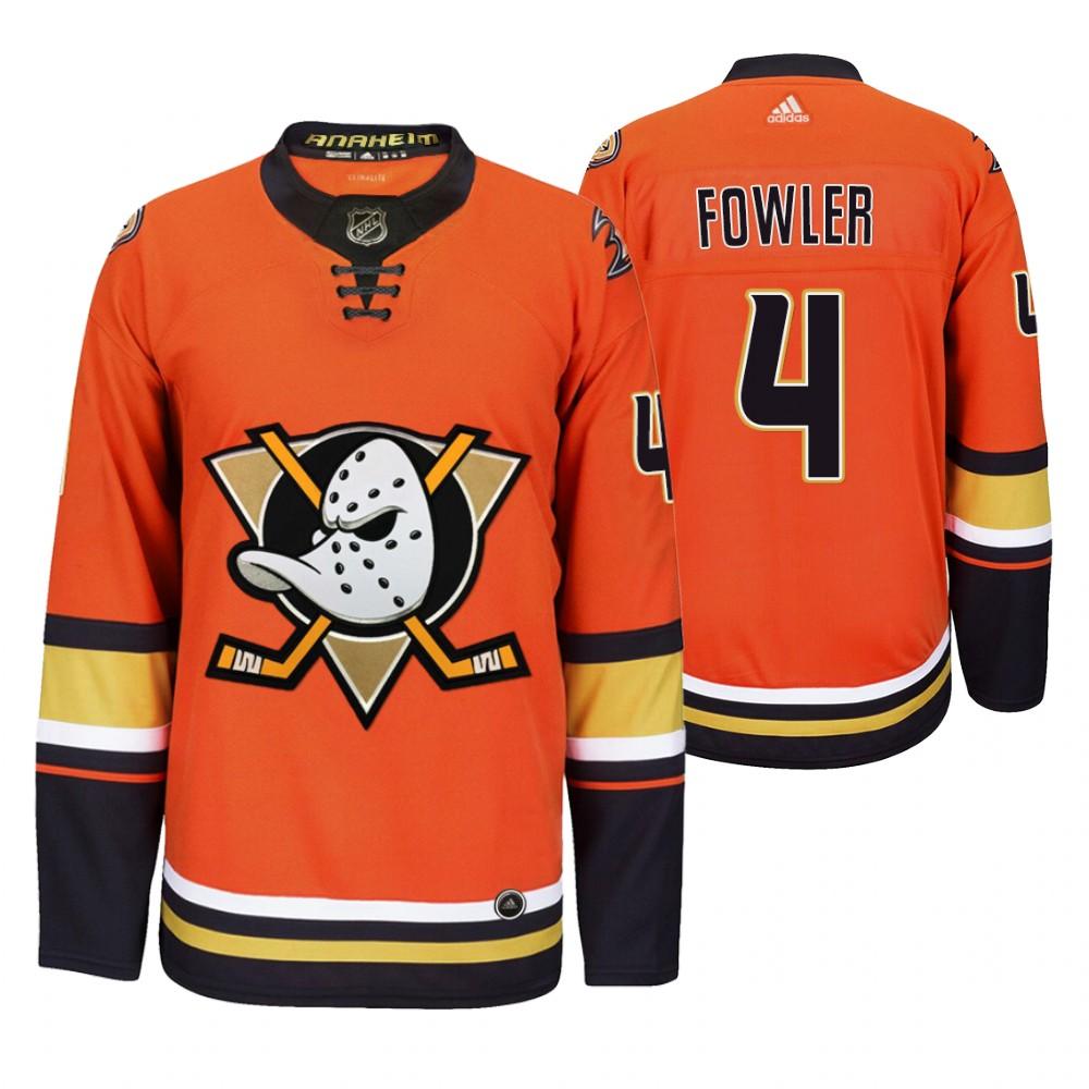 Anaheim Ducks #4 Cam Fowler Men's 2019-20 Third Orange Alternate Stitched NHL Jersey