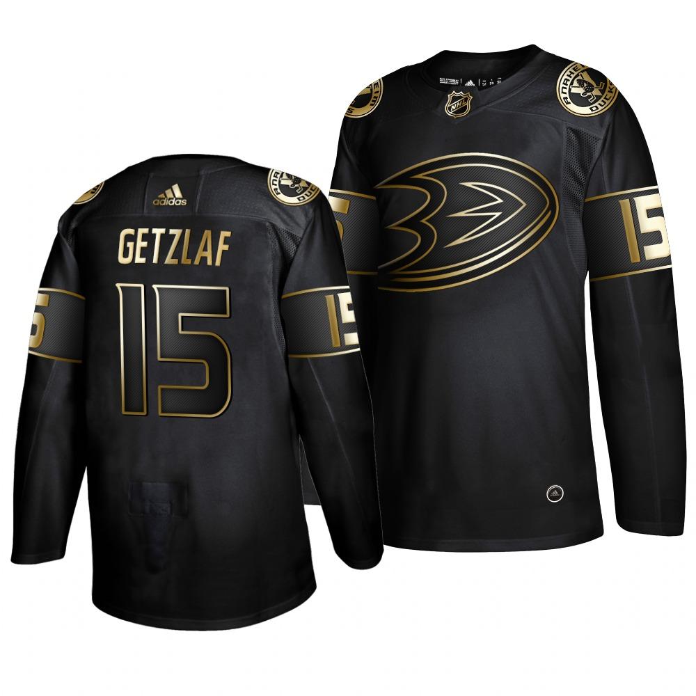 Adidas Ducks #15 Ryan Getzlaf Men's 2019 Black Golden Edition Authentic Stitched NHL Jersey