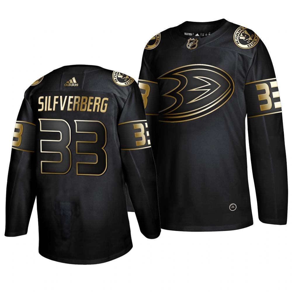 Adidas Ducks #33 Jakob Silfverberg Men's 2019 Black Golden Edition Authentic Stitched NHL Jersey