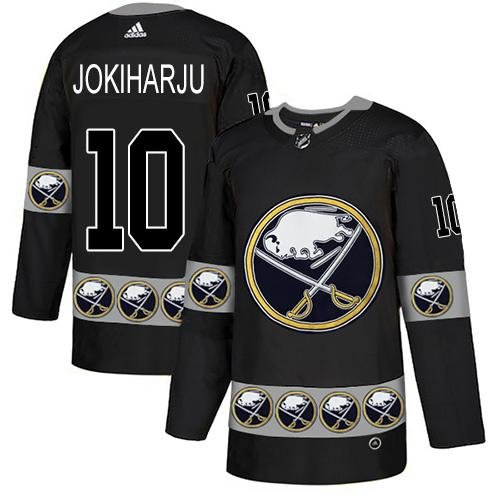 Adidas Sabres #10 Henri Jokiharju Black Authentic Team Logo Fashion Stitched NHL Jersey