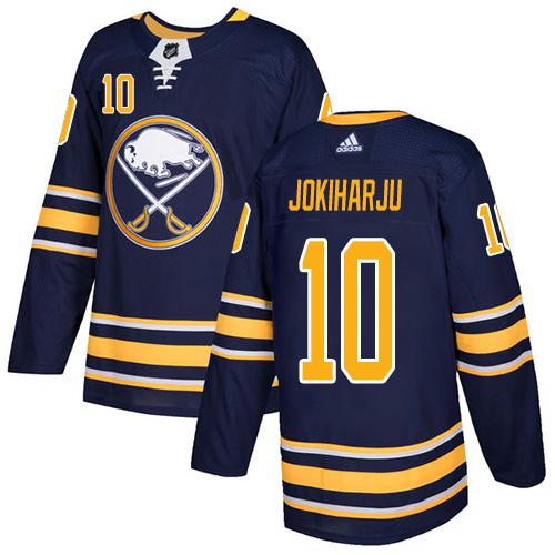 Adidas Sabres #10 Henri Jokiharju Navy Blue Home Authentic Stitched NHL Jersey