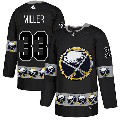 Adidas Sabres #33 Colin Miller Black Authentic Team Logo Fashion Stitched NHL Jersey