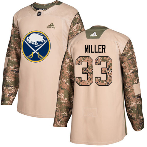 Adidas Sabres #33 Colin Miller Camo Authentic 2017 Veterans Day Stitched NHL Jersey