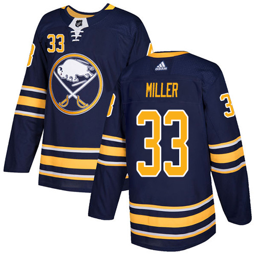 Adidas Sabres #33 Colin Miller Navy Blue Home Authentic Stitched NHL Jersey
