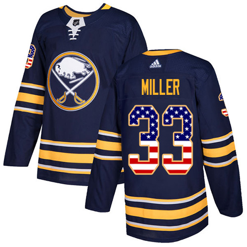 Adidas Sabres #33 Colin Miller Navy Blue Home Authentic USA Flag Stitched NHL Jersey
