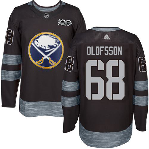 Adidas Sabres #68 Victor Olofsson Black 1917-2017 100th Anniversary Stitched NHL Jersey