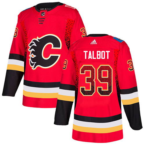Adidas Flames #39 Cam Talbot Red Home Authentic Drift Fashion Stitched NHL Jersey