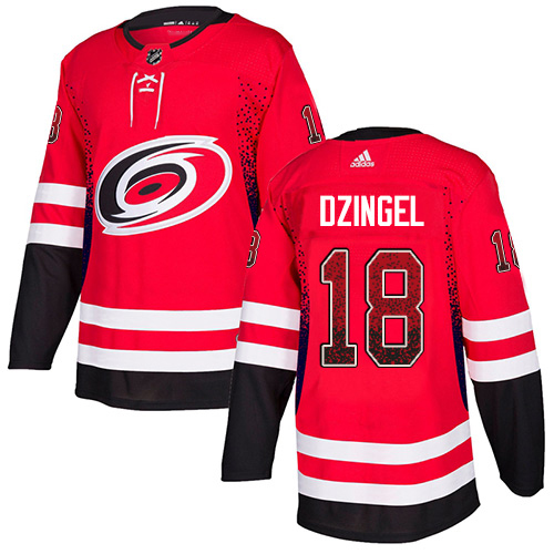 Adidas Hurricanes #18 Ryan Dzingel Red Home Authentic Drift Fashion Stitched NHL Jersey