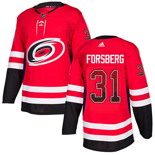 Adidas Hurricanes #31 Anton Forsberg Red Home Authentic Drift Fashion Stitched NHL Jersey