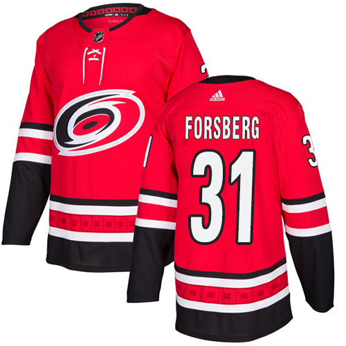 Adidas Hurricanes #31 Anton Forsberg Red Home Authentic Stitched NHL Jersey