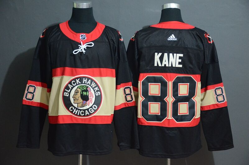 Adidas Blackhawks #88 Patrick Kane Men's Black Classic Retro Stitched NHL Jersey