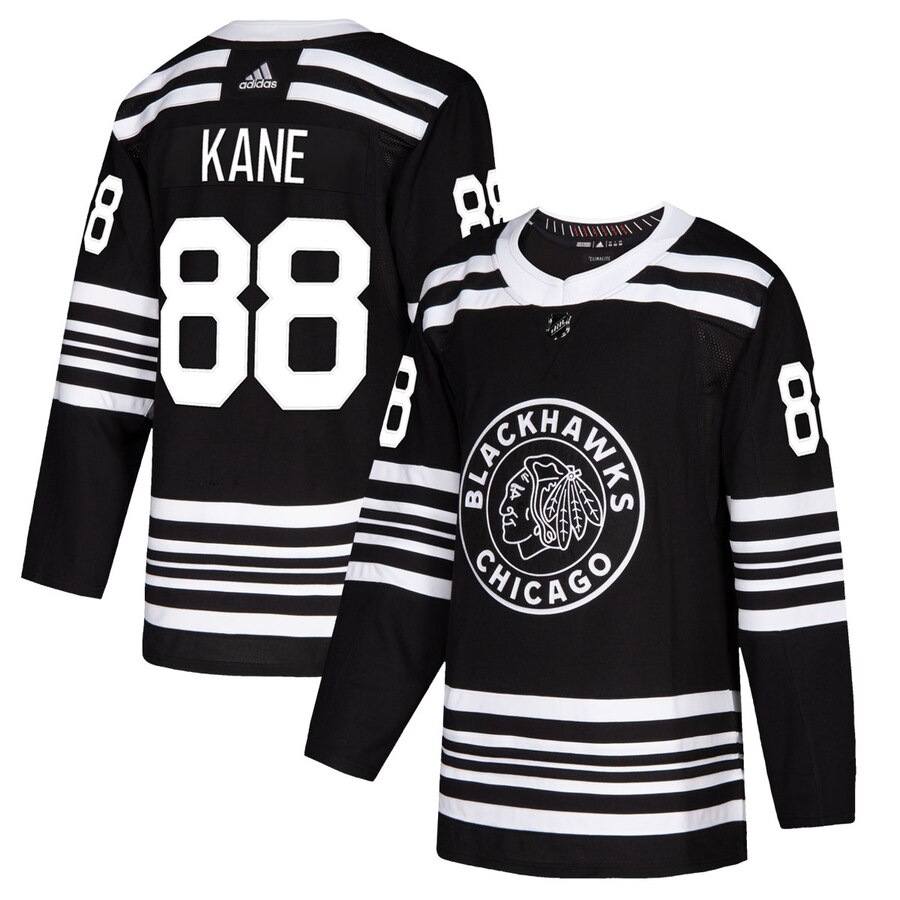 Chicago Blackhawks #88 Patrick Kane Men's Adidas Black Alternate 2019-20 Authentic Player NHL Jersey