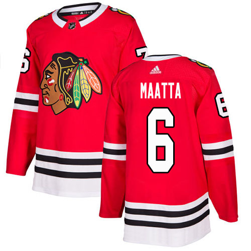 Adidas Blackhawks #6 Olli Maatta Red Home Authentic Stitched NHL Jersey