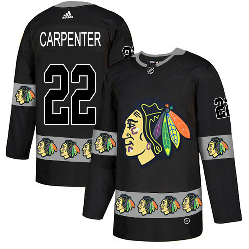 Adidas Blackhawks #22 Ryan Carpenter Black Authentic Team Logo Fashion Stitched NHL Jersey