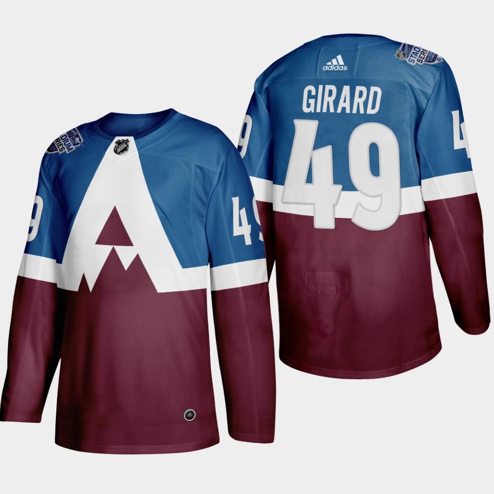 Adidas Colorado Avalanche #49 Samuel Girard Men's 2020 Stadium Series Burgundy Stitched NHL Jersey