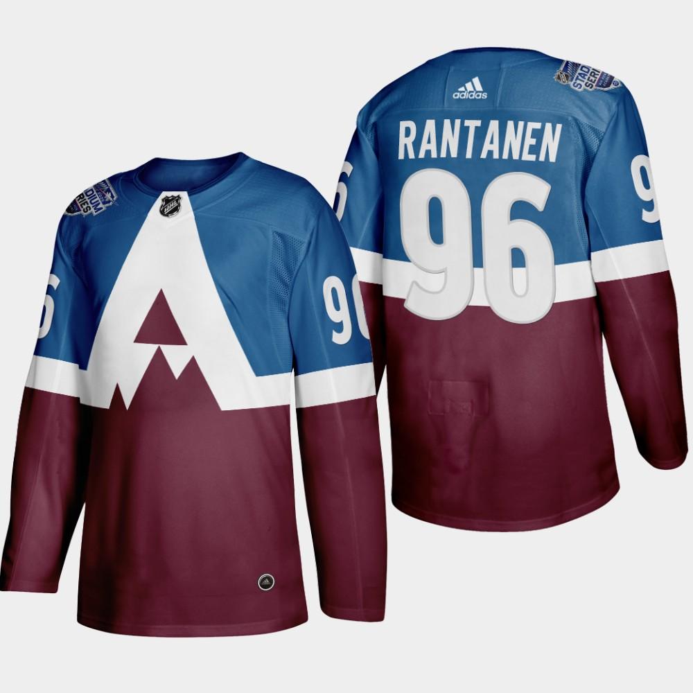 Adidas Colorado Avalanche #96 Mikko Rantanen Men's 2020 Stadium Series Burgundy Stitched NHL Jersey